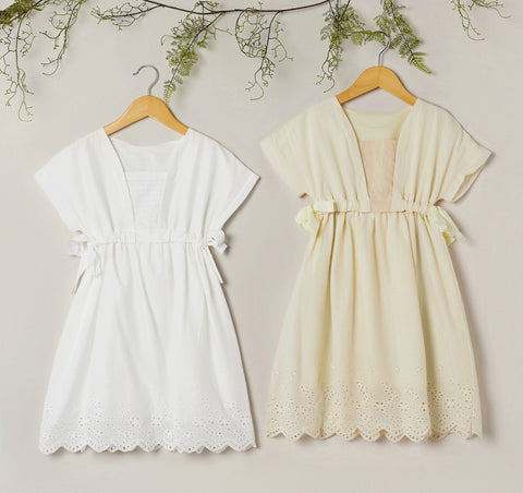 Girls Detailed top, Side-draw Dress