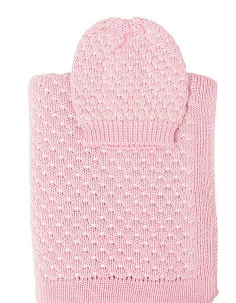 Snuggle Knitted Baby Blanket & Beanie