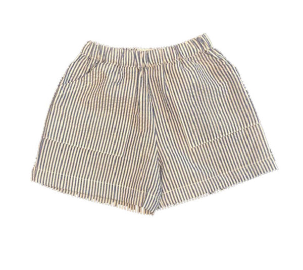 Boys Seersucker Shorts Blue/white