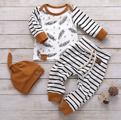 Feather and Stripes Outfit