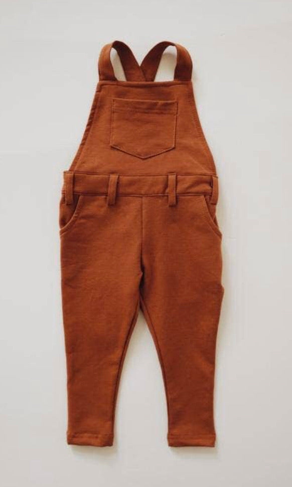 Long stretch overalls Russet