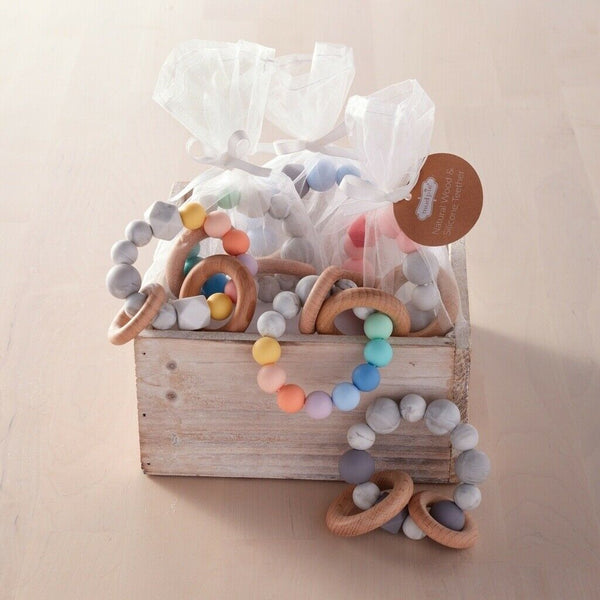 Silicone and Wooden Teether