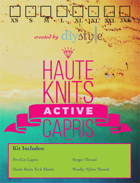 Haute Knits by DIYStyle®-- Active Capris Kit - Haute Knits by DIYStyle