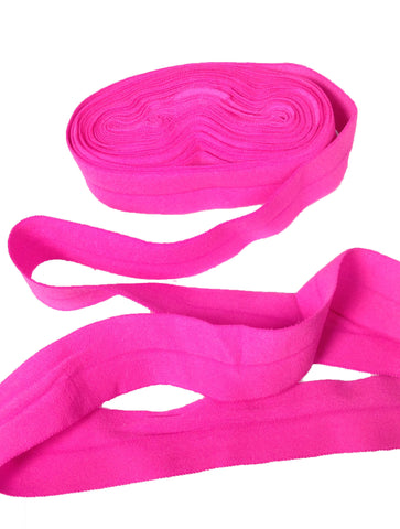 Neon Pink:: Fold Over Elastic-5 Yard Pack - Haute Knits by DIYStyle