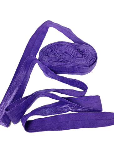 Bright Purple:: Fold Over Elastic-5 Yard Pack - Haute Knits by DIYStyle