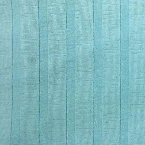 Activewear Spandex Knit Fabric Aqua TOT Stripe -1 yard pack - Haute Knits by DIYStyle
