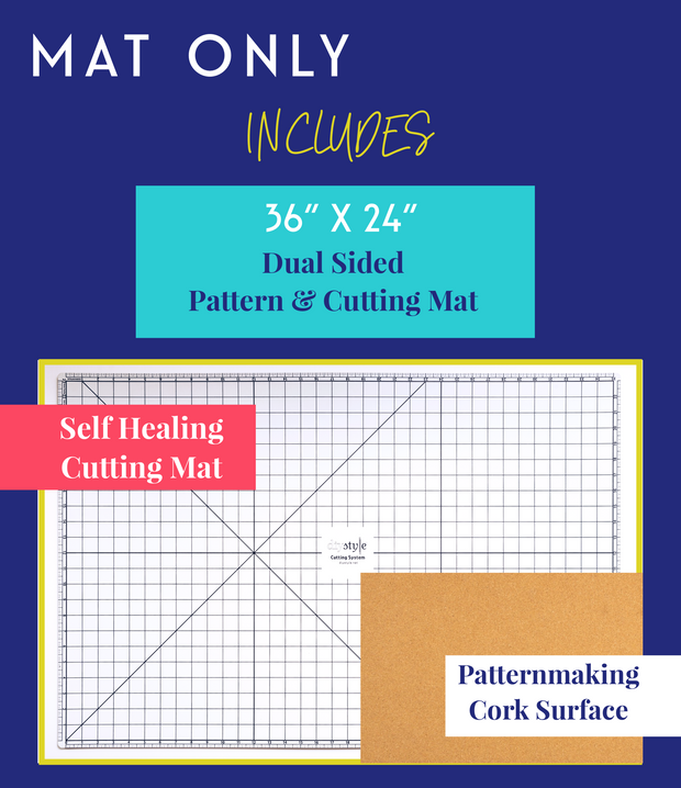 DIYStyle® MAGNETIC Pattern and Cutting System-Mat ONLY - Haute Knits by DIYStyle