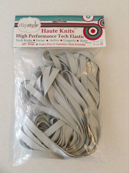 Haute Knits by DIYStyle®-- Tech Elastic 25 yard pack - Haute Knits by DIYStyle