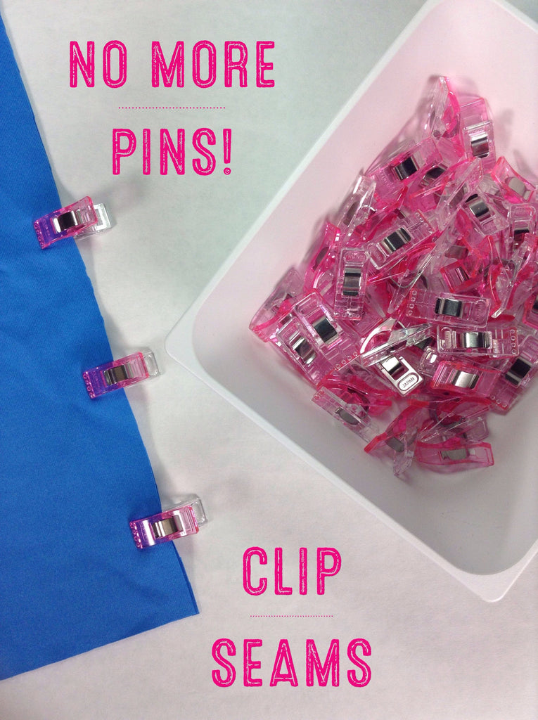 Clover Wonder Clips Pink-50 Count Pack - Haute Knits by DIYStyle