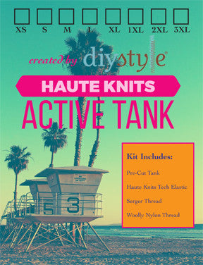 Haute Knits by DIYStyle®-- Active Tank Kit - Haute Knits by DIYStyle