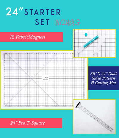"24"" Starter Set-DIYStyle® MAGNETIC Pattern and Cutting System - Haute Knits by DIYStyle"