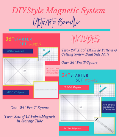 Ultimate Bundle-DIYStyle® MAGNETIC Pattern and Cutting System - Haute Knits by DIYStyle