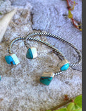 Sterling Silver and American Turquoise Cuff (made-to-order)