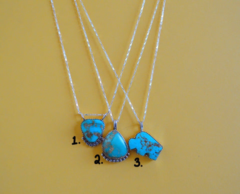 Turquoise Pendents (Chains Sold Separately)