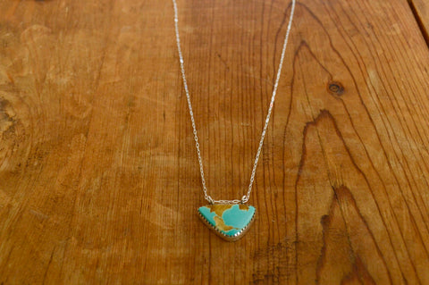 Natural Royston Turquoise Necklace 16""