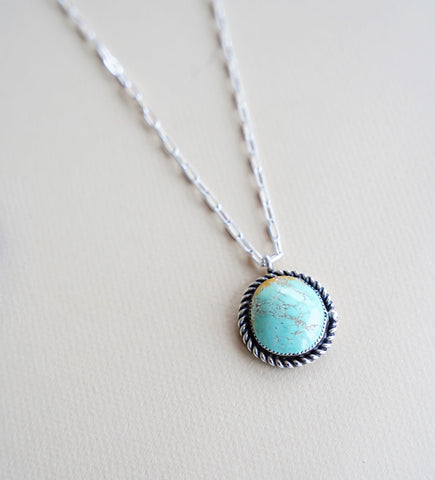 "Carico Lake Turquoise Necklace (18"")"
