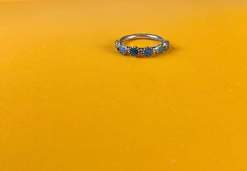 Opal 3/4 Eternity Band (size 7)