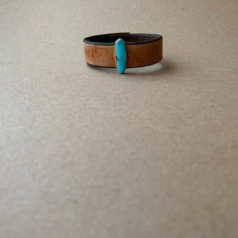 Campitos Turquoise Leather Bracelet