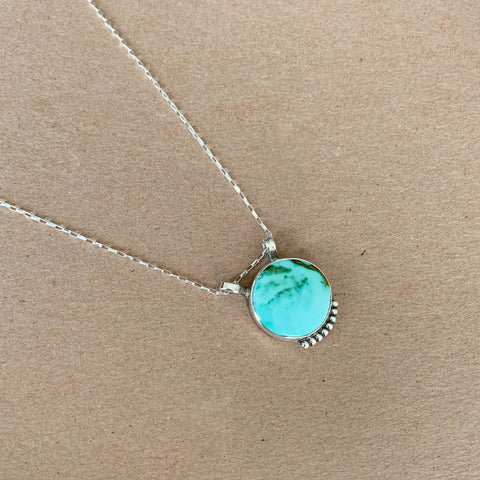 Large Royston Turquoise Necklace 18""