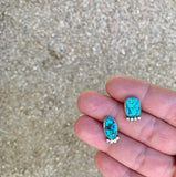 Kingman Turquoise Stud Earrings