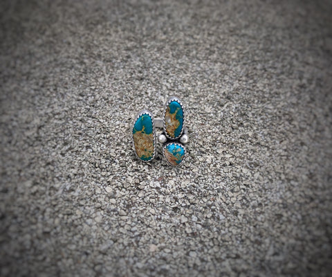 Royston Turquoise Open Shank Ring