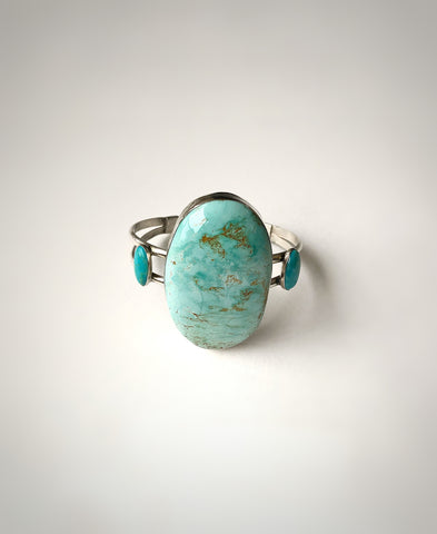 Royston and Kingman Turquoise Sterling Silver Cuff
