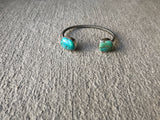 Carico Lake Turquoise and Sterling Silver Cuff