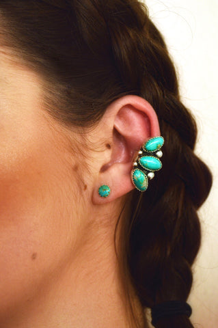 Royston and Fox Turquoise Ear Cuff (1 ear)