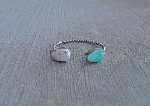 White Buffalo and Royston Turquoise Cuff