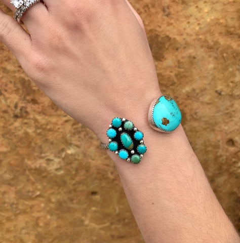 Kingman and Royston Turquoise Cuff