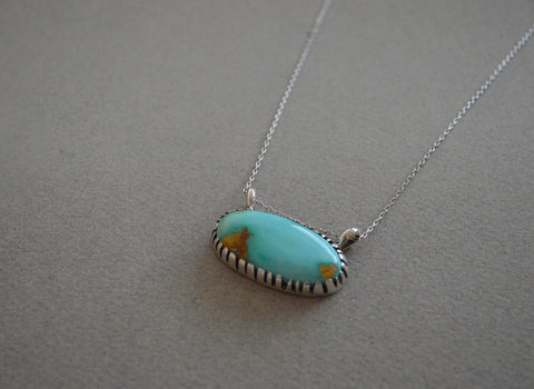 Large Royston Turquoise Necklace 16""