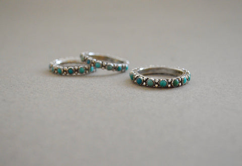 Carico Lake Turquoise Eternity Band (allow 3 weeks to ship)
