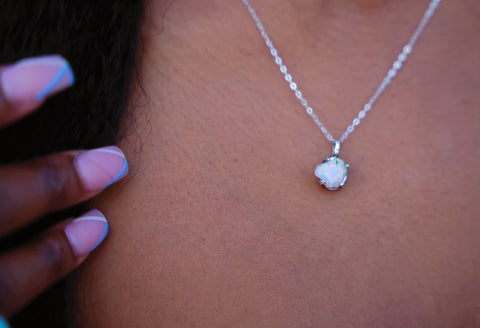 Opal and Sterling Silver Necklace