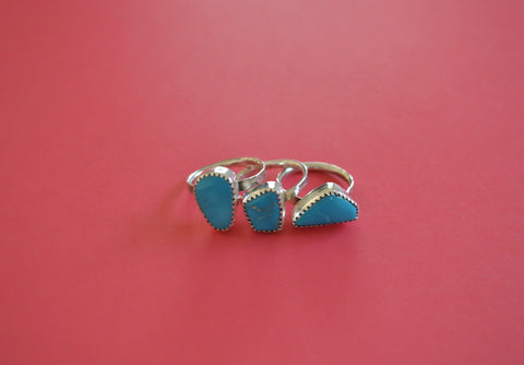 Kingman Turquoise Stacking Set (Size 7)