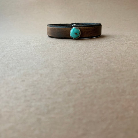 Blue Moon Turquoise Leather Bracelet