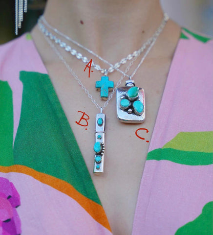 Turquoise Pendents and Necklaces (3 Styles)