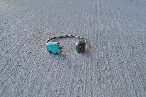 Kingman Bison and Royston Turquoise Cuff