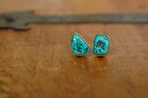 Vintage Nugget Turquoise Studs