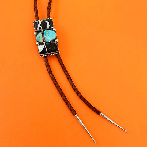 White Buffalo and Royston Turquoise Bolo