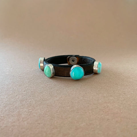Royston Turquoise Leather Bracelet