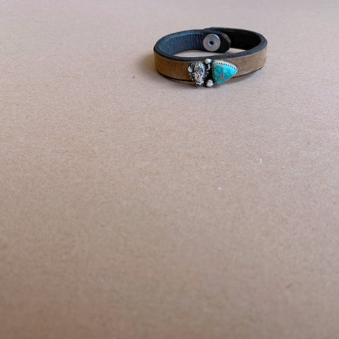 Carico Lake Turquoise and Buffalo Bracelet