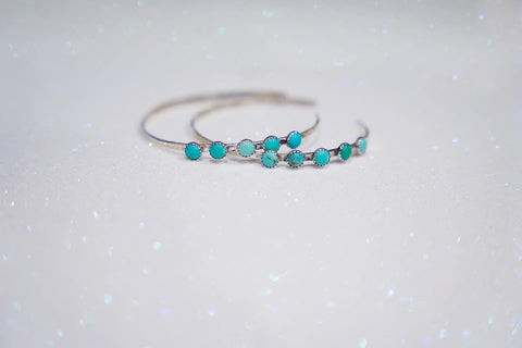Carico Lake Turquoise Hoops