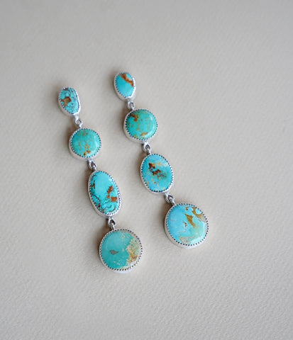 Royston Turquoise 4 Layer Earrings