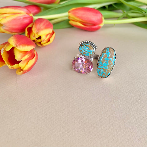 Turquoise and Pink Gem Ring (8)