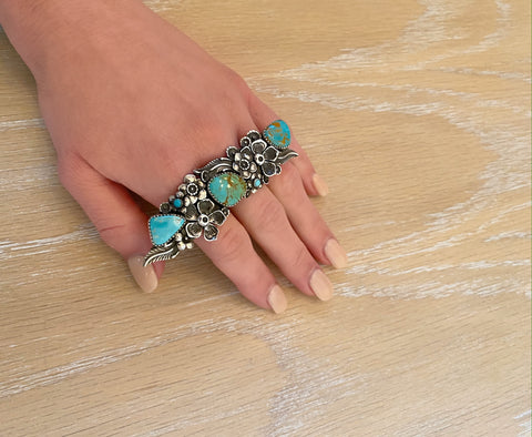 Adjustable Royston Turquoise Garden Ring