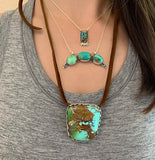 Royston Turquoise Crescent Necklace
