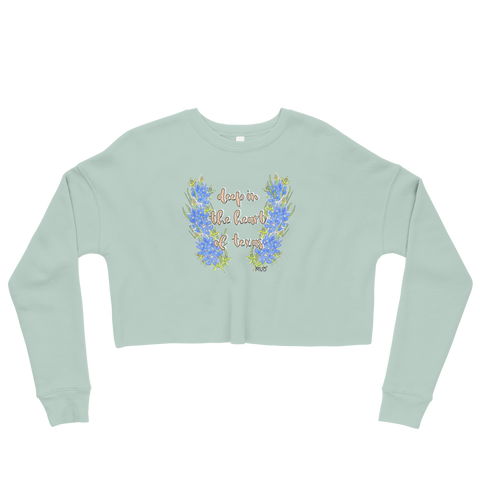 Deep In The Heart of Texas Crop Sweatshirt