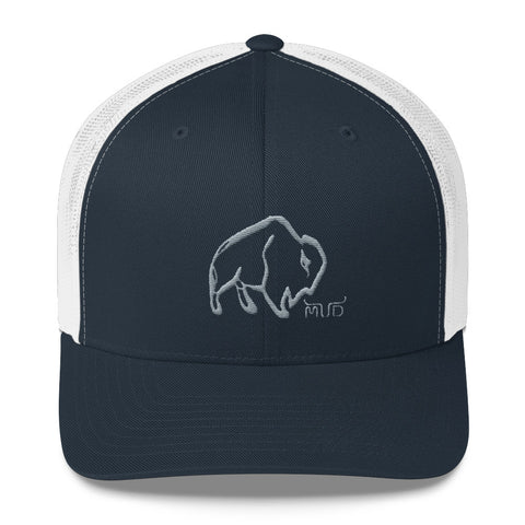 "Mud Buffalo Trucker Cap (5 Colors / 3.5"")"