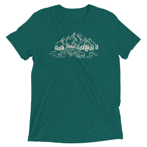 Mud Original Buffalo and Mountians T-Shirt