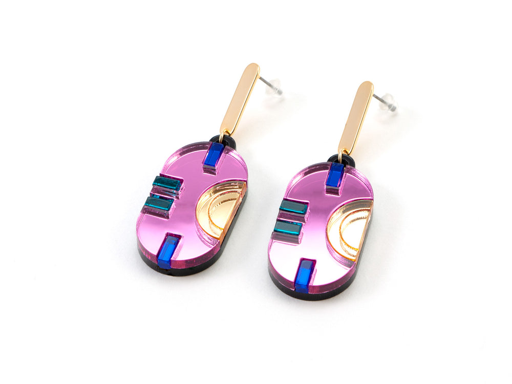 FORM055 CHAC Stud Earrings - Babypink